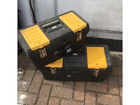 Set of Two Durable Clasp Tool Boxes