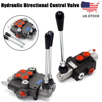 Hydraulic Monoblock Directional Control Valve 11 Gpm 1 Spool 2 Spool For Loaders
