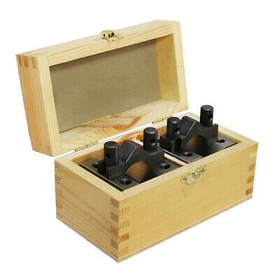 Set Multi-use Gauge Gage Machinist Tool 2-38 X 2-38 X 2 Inch V Block Clamp