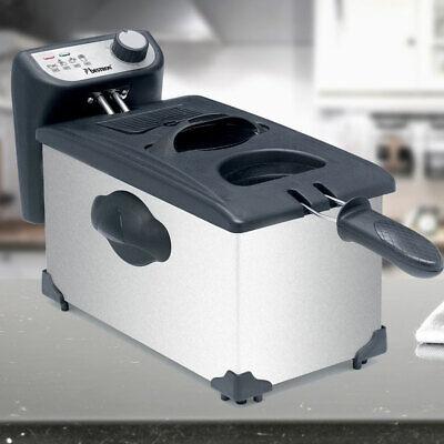Freidora 3,5 Litros Acero Inox 2200W Cool Zone Freir Temperatura Grasa