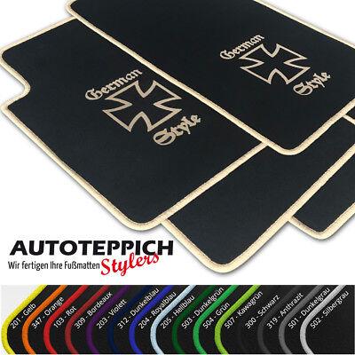 Fußmatten German Style vers. Farben für Mercedes Benz CLK W208 / A208 Cabrio Bj