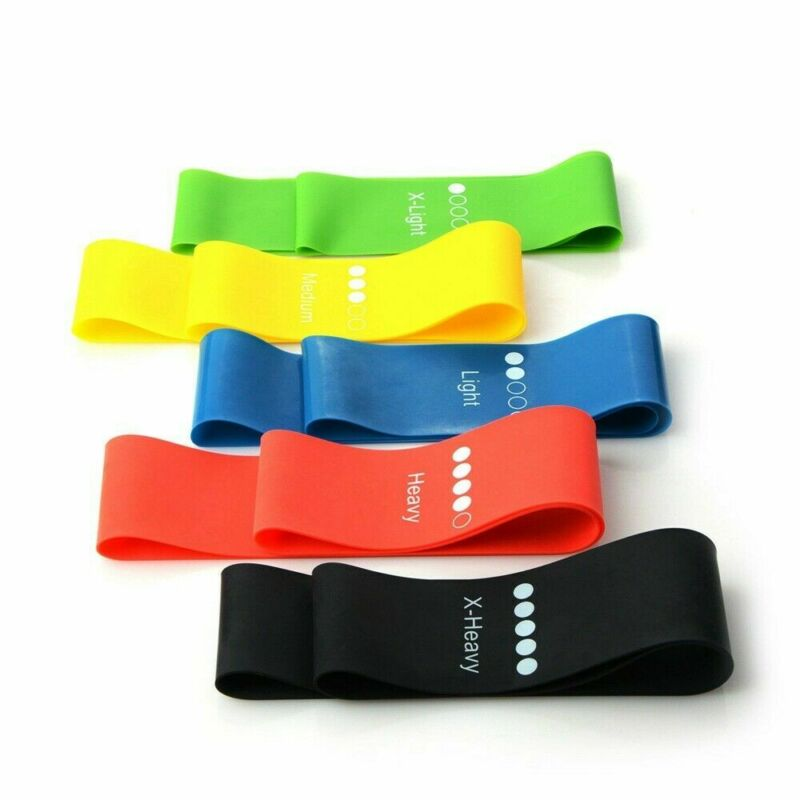 Resistance Strength Rubber Bands Loop Elastic Exercise Yoga Fitness Gym Training