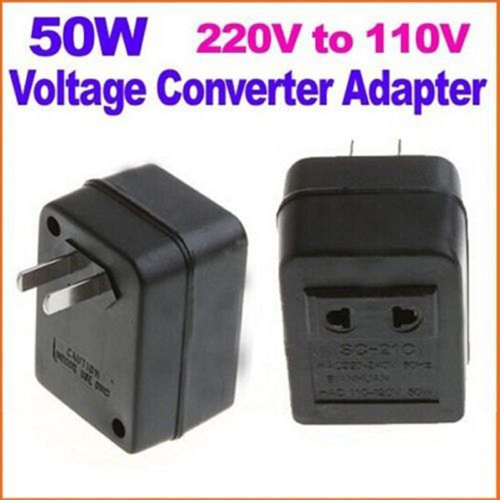 Step Down Transformer Travel Adapter 50W US AC 220V To 110V Voltage Converter US Electrical Supplies