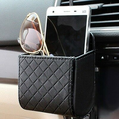 Car Accessories Auto Outlet Air Vent Mobile Phone Holder Bag Leather Pouch