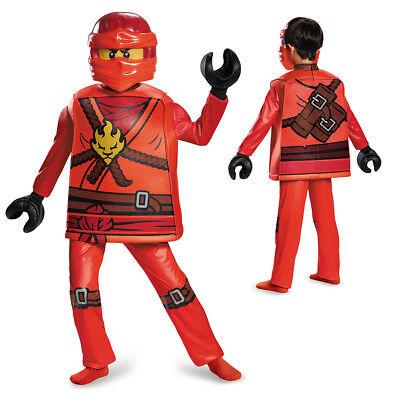 Boys LEGO Ninjago Deluxe Kai Halloween Costume - Red Ninjago Halloween Costume