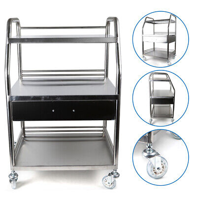 Movable Steel Cart Trolley Medical Trolley Hospital Equipment Lockable Wheels