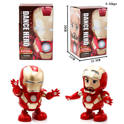 Iron Man Dance Hero Avengers Action Figure Toy Gift LED Flashlight With Sound