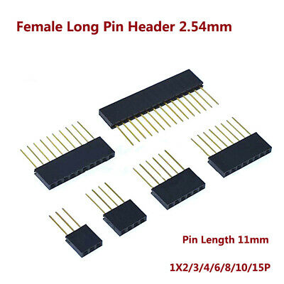 Female Long Pin Header 2.54mm Connector Socket 1x234681015p Pin Len11mm