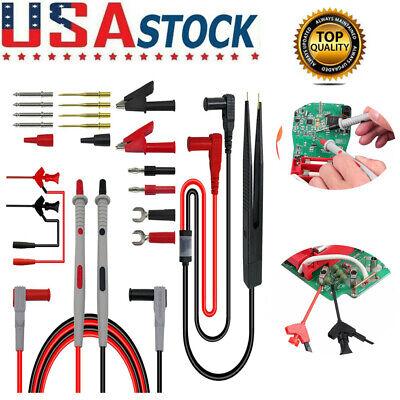 21 In 1 Multimeter Test Lead Kit Power Wire-piercing Probe Clip Meter Power New