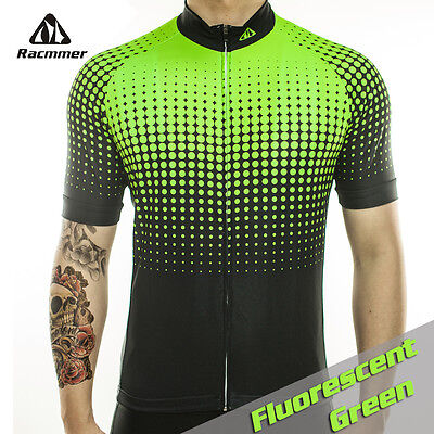 Best Selling Cycling Kits The Green Gradient Polkadot Cute Design Jersey 4 Men