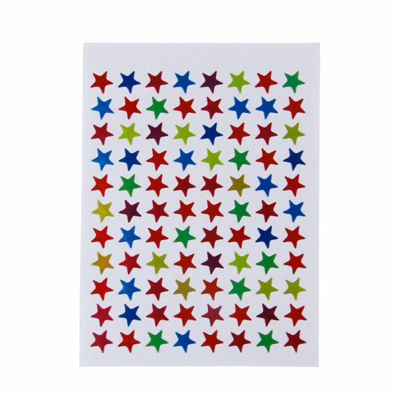 Star Shape Stickers Labels For Kids and Teacher Reward DIY Crafts