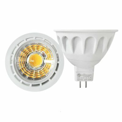 Blue Led Spotlight (MR16 6W Dimmable 12V DC LED Spotlight COB Light Bulb Lamp Colour)