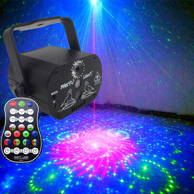 60 Pattern Laser Light Projector Stage Light LED RGB Party KTV Club DJ Disco UK