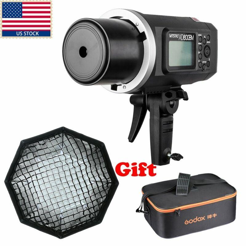 US Godox AD600BM 600W HSS 1/8000s 2.4G Studio Flash Light + 120cm Grid Softbox