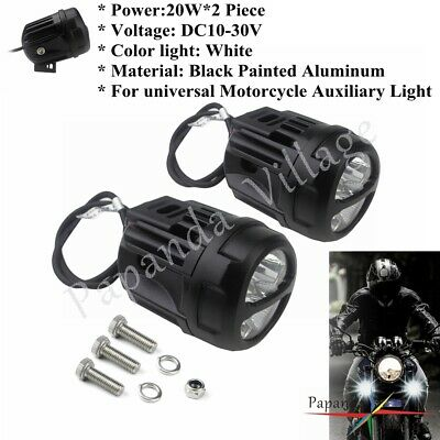 MOTORCYCLE LED PROJECTORS SPOTLIGHTS AUXILIARY ANTI FOG LIGHT FOR HOND