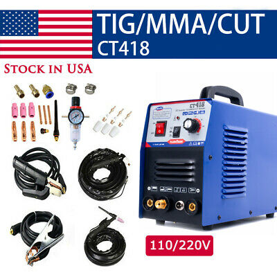 Ct312 Tigmmacut 3in1 Air Plasma Cutter Welder Welding Machine Torches