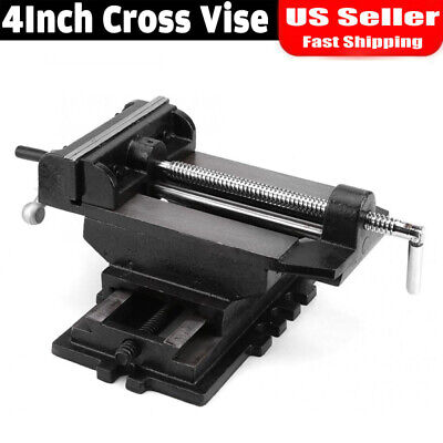 4inch Cross Slide Vise Drill Press Heavy Duty Metal Milling 2 Way X-y Clamp Vice