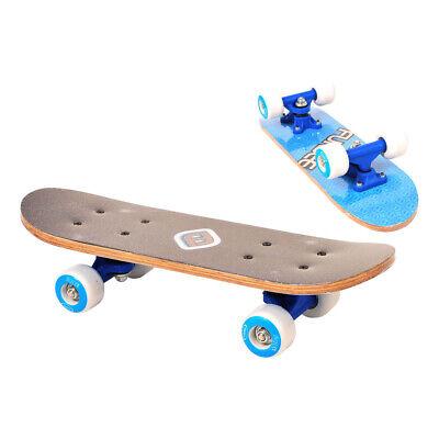 FUNBEE Kid's 17-Inch Maple Wood Mini Skateboard Cruiser, Unisex, Blue (OFUN247B)