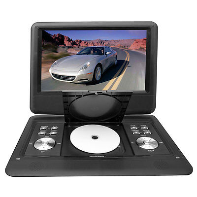 "New Pyle 14"" Portable Swivel TFT DVD CD USB/SD Player W/ Remote + Car Adapter"
