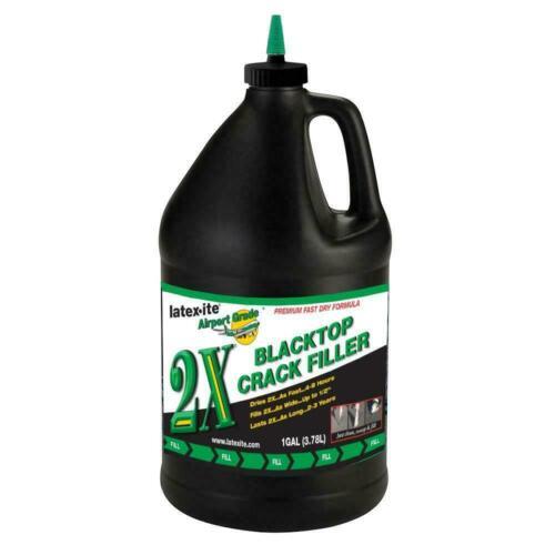 1 Gal. Blacktop Crack Filler Liquid Vinyl Polymer Asphalt Repair Acrylic Rubber