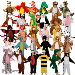 Childs-Animal-Costumes-Zoo-Farmyard-Woodland-Kids-Fancy-Dress-Boys-Girls-Onesie