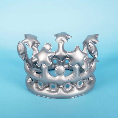 Inflatable King For A Day Novelty Silver Hen Stag Party Crown  (Crown For A King)
