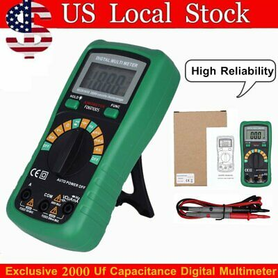 Lcd Display Digital Multimeter Temperature Capacitance Frequency Test Backlig