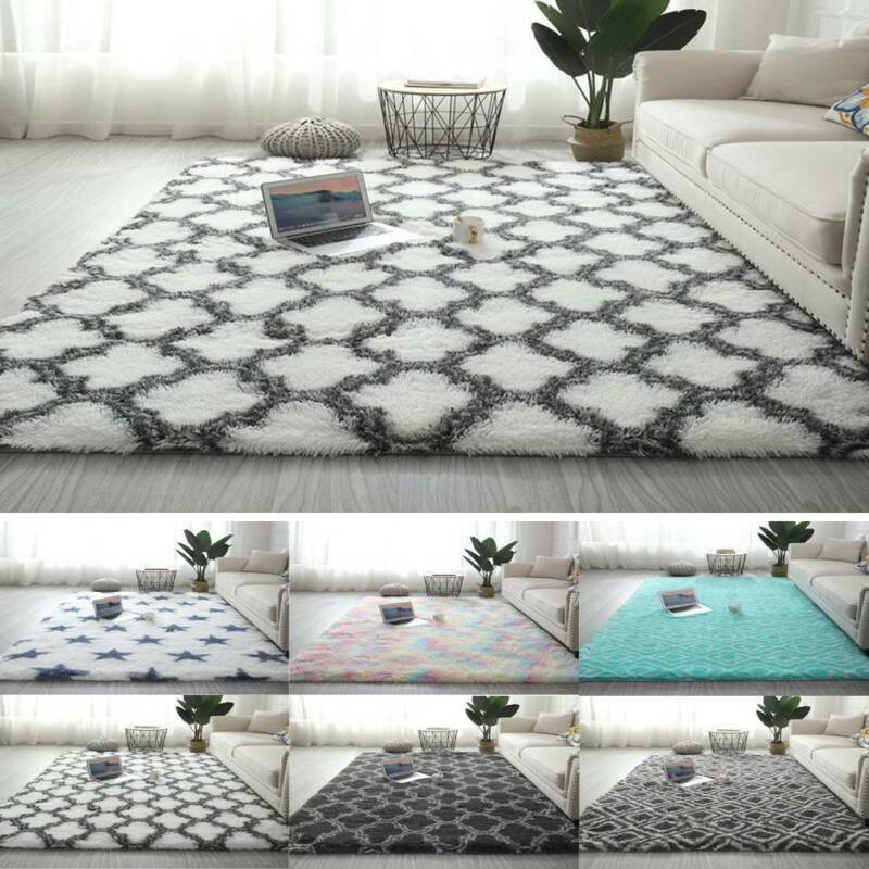 Fluffy Anti-Slip Rugs Shaggy Rug Large Carpet Living Room Bedroom Soft Floor Mat