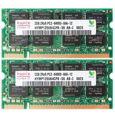 Sdram 200-pin Memory Module (Hynix 4GB 2x2GB PC2-6400S DDR2-800 200 pin SDRAM SODIMM Laptop Memory Module RAM)