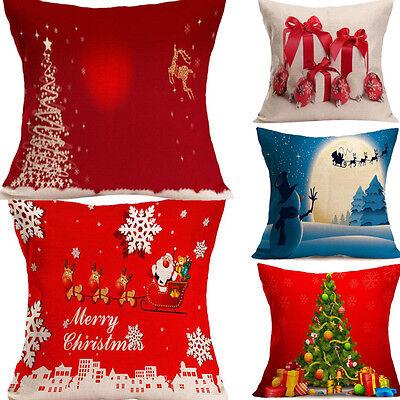 Christmas Sofa Home Decor Throw Pillow Case Cushion Cover For Party SHOP GIFT