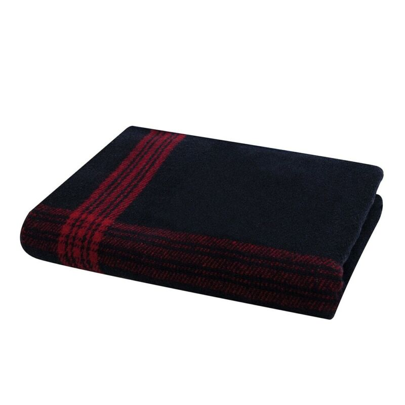 Rothco Navy With Red Striped Wool Blanket - 1095