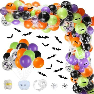 Halloween Balloon Garland Arch for kid adults Halloween Party Decoration 155pc