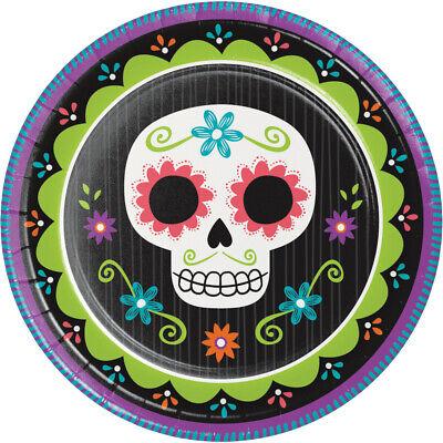 8 X Halloween Tag der Toten Teller Sugar Skull Party Geschirr Dia De Muerto