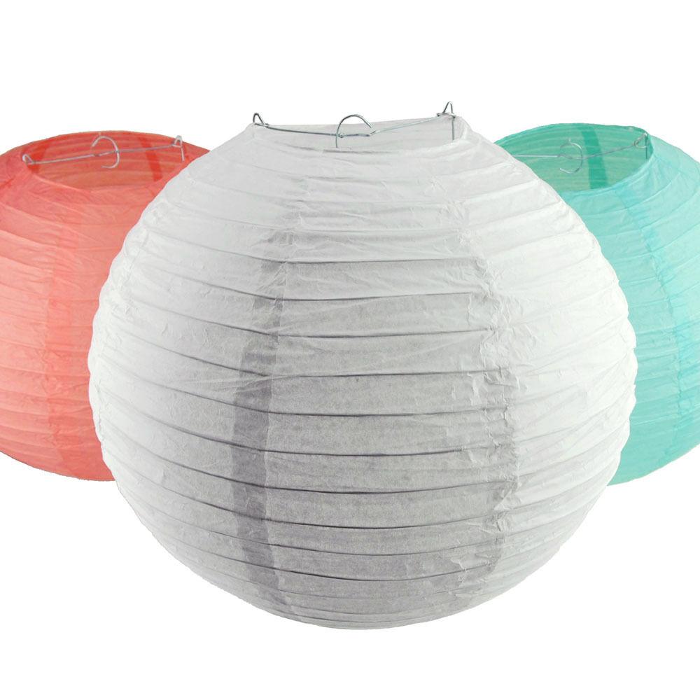 round paper lantern hanging decor 10 12