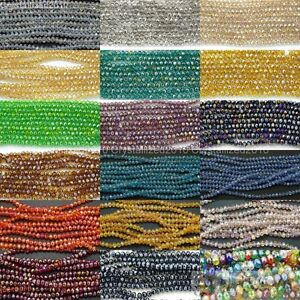 100Pcs-Top-Quality-Czech-Crystal-Faceted-Rondelle-Spacer-Beads-3mm-x-4mm-Pick
