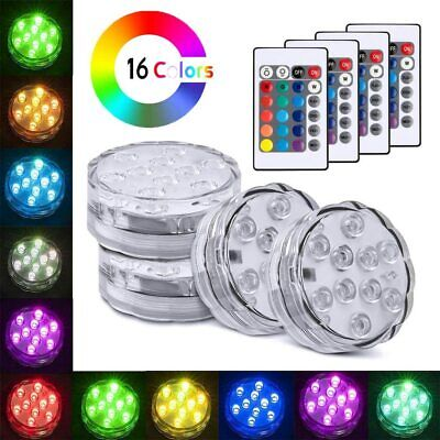 4 Piece Waterproof Underwater Led Lights with remote for Swimming Pool, Hot tube