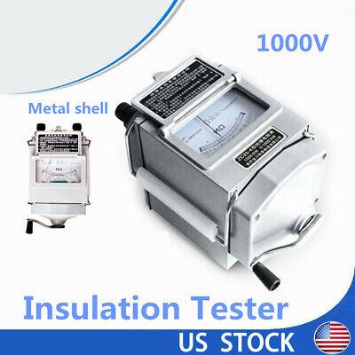 Metal Shell Megger Meter Insulation Tester Resistance Meter 1000v Detectors