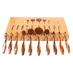 10Pcs-Pro-Make-Up-Brushes-Set-Toothbrush-Oval-Powder-Foundation-Contour-Rosegold