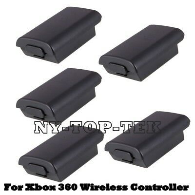 5X New Battery Pack Cover Shell Case Kit for Xbox 360 Wireless Controller Black for sale  Shipping to South Africa