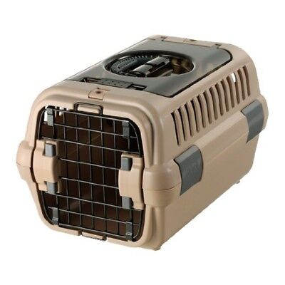 NEW Richell Double Door Pet Carrier Bag Case S Brown Travel Dog Fast Shipping