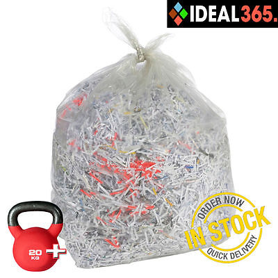 200 Rubbish Bin Bags Clear Compactor Sacks Paper Waste Refuse Liners Heavy Duty