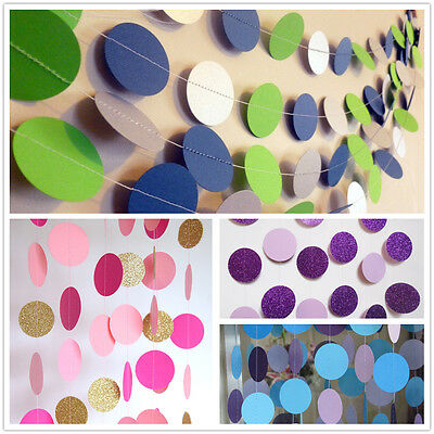 Paper Garland Strings Circle Wedding Party Baby Shower Hanging Decoration 5 lot