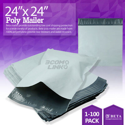 24x24 Poly Mailer Shipping Mailing Packaging Envelope Self Sealing Bags Light