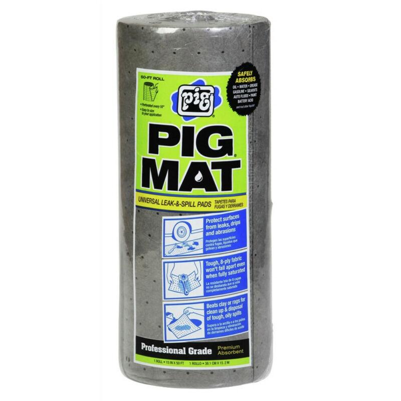 New Pig 25201 15 in. x 50 ft. Universal Light-Weight Absorbent PIG Mat Roll New