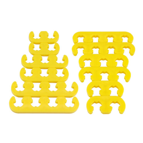2Sets 7mm 8mm Yellow Spark Plug Wire Separators Looms 9878 for 350 454 289 302