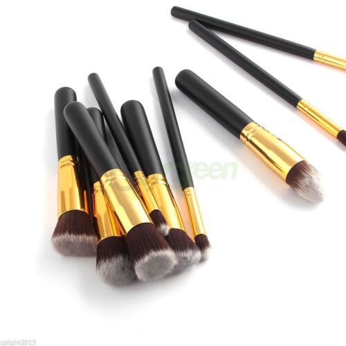 Купить Unbranded/Generic - 10Pc Makeup Brushes Tool Set Cosmetic Eyeshadow Face Powder Foundation Lip Brush
