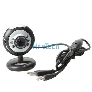 5.0 Mega Pixel 6 LED USB 2.0  Web Camera +Mic #489 UK