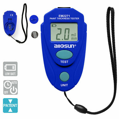 Lcd Digital Auto Car Paint Coating Thickness Tester Measuring Gauge Meter All-su
