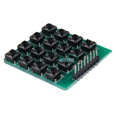 2pcs 4x4 Matrix 16 Keypad Keyboard 16 Botton Module Mcu Green Board For Arduino