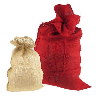 High Quality Natural Burlap Drawstring Santa Sack](Burlap Santa Sack)